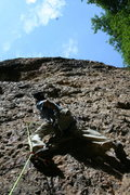 Rock Climbing Photo: beer quester 5.11a *** maple canyon
