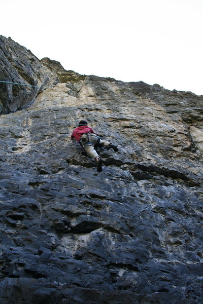 Rock Climbing Photo: just waiting for the crux!