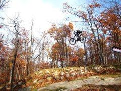Rock Climbing Photo: Flying high at mountain creek