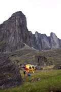 Rock Climbing Photo: Flying into the Cirque of Unclimbables