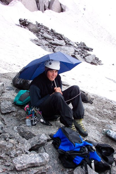 Real alpinists use umbrellas