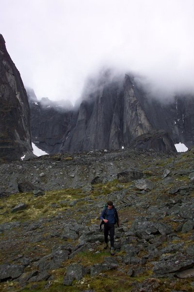 Rock Climbing Photo: hiking back from lotus