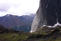 Rock Climbing Photo: The Northeast buttress of Mt Harrison-Smith as see...