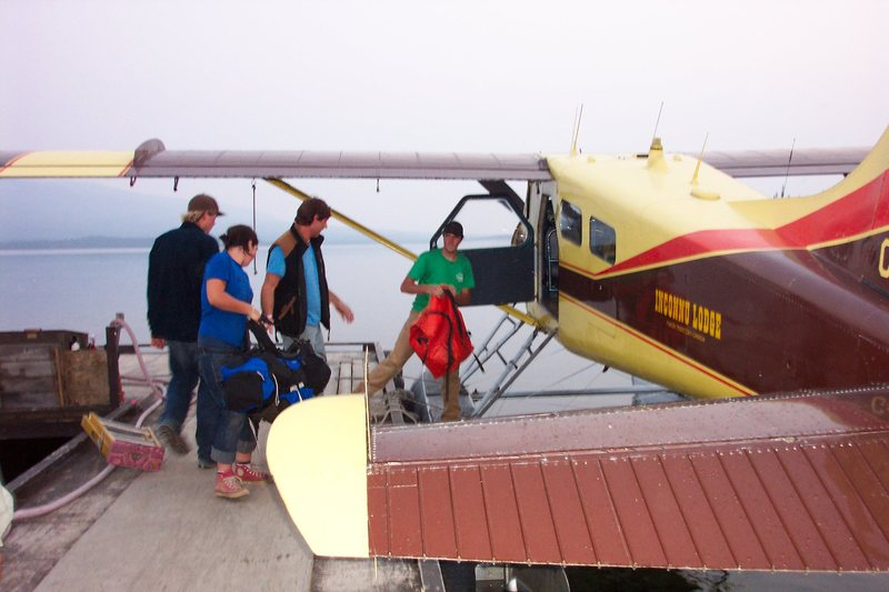 Rock Climbing Photo: unloading back at Inconnu Lodge.