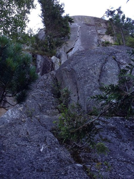 Rock Climbing Photo: Around the blobby rock in front of you, then a cru...