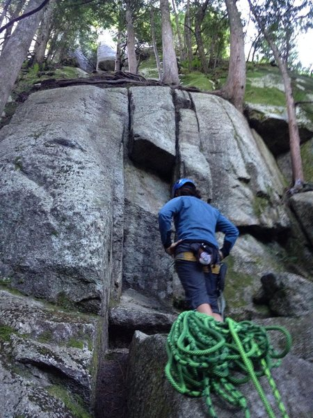 Rock Climbing Photo: To help you find the start, which is deep in the w...