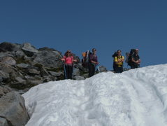 Rock Climbing Photo: The treck up to Camp Muir