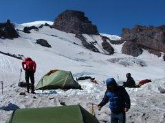 Rock Climbing Photo: Camp Muir