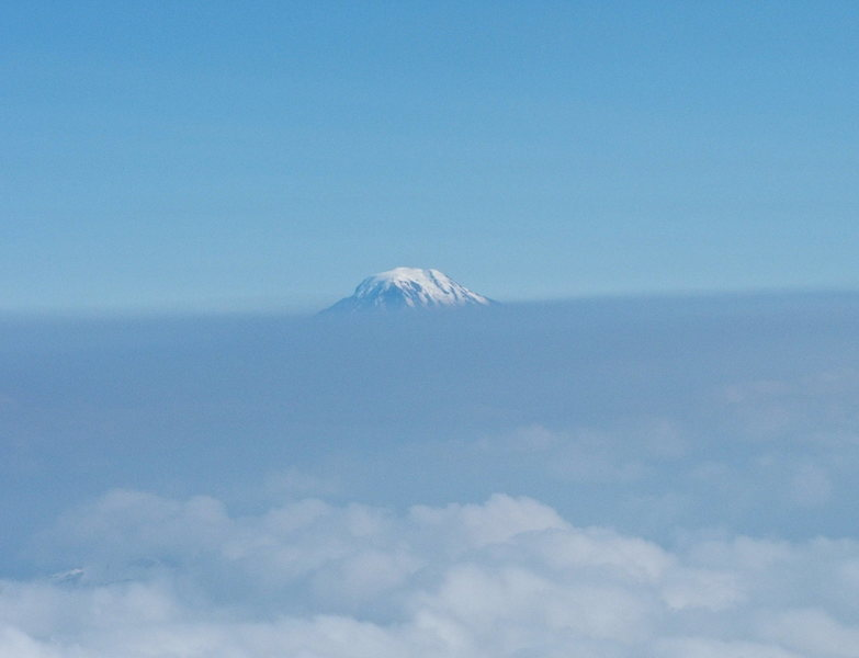 Mt. Adams playing peek-a-boo.