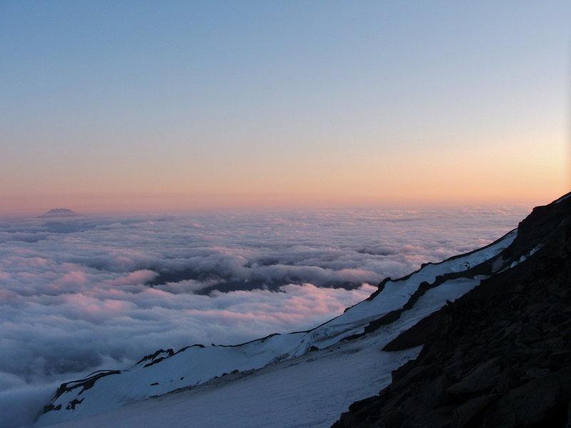 Rock Climbing Photo: Sunset from Camp Muir