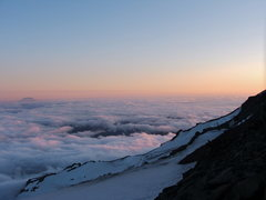 Rock Climbing Photo: Sunset from Camp Muir