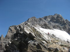 Rock Climbing Photo: Middle Teton from the South Saddle.