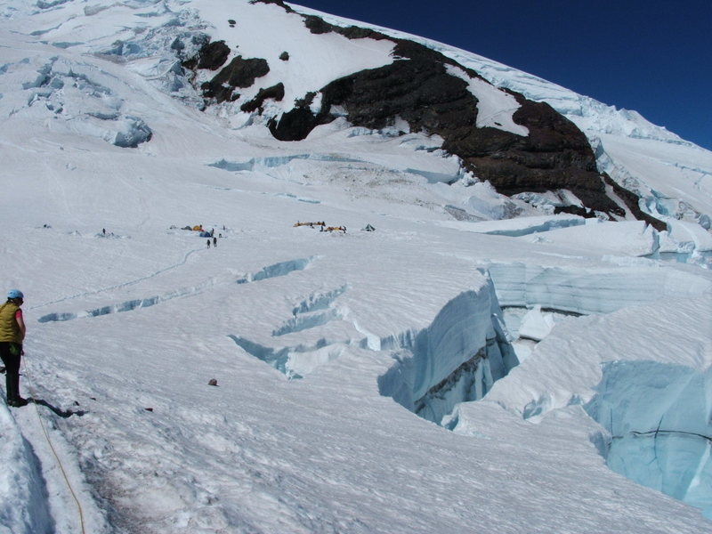 Rock Climbing Photo: Big Crevas at Ingraham Flats