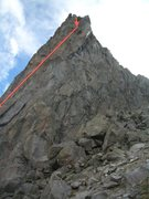 Rock Climbing Photo: Line starts on left and moves right to North Face ...