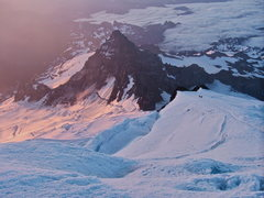 Rock Climbing Photo: Little Tahoma and the Emmons Glacier