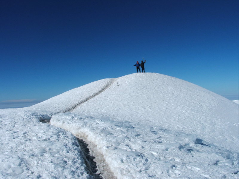 Rock Climbing Photo: On the summit of Rainier