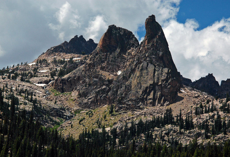 Rock Climbing Photo: Finger of Fate, Sawtooths