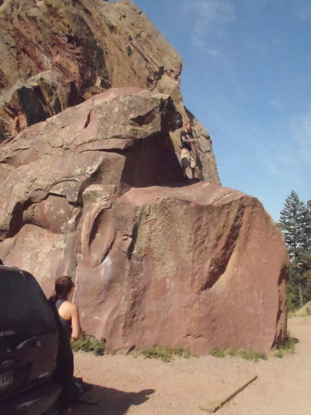 Rock Climbing Photo: Not sure if it has a name or grade, but it's in th...