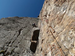 Rock Climbing Photo: Ross on the 3rd pitch....