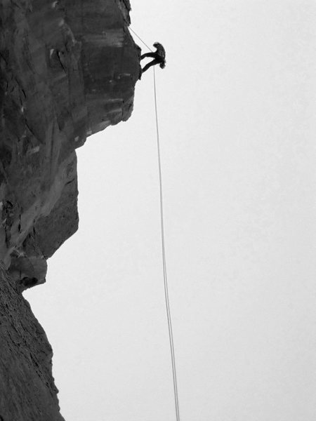 Rock Climbing Photo: About to drop below the roof into the free-hanging...