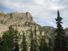 Rock Climbing Photo: Little Matterhorn from the pass near Lake Helene. ...