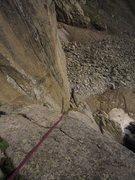 Rock Climbing Photo: Kat A. rapping into Good Evans on a bluebird morni...