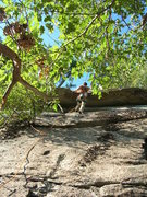 Rock Climbing Photo: Jim pulls the roof.