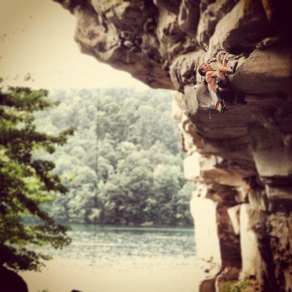 Rock Climbing Photo: Urs Moosmüller crushing at the Coliseum, Summersv...