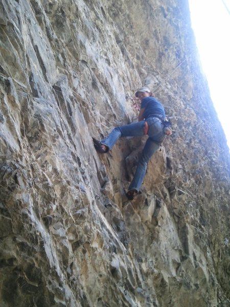 Rock Climbing Photo: Angel Jacklin cleaning Resuscitation 5.10b. At the...