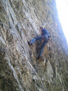 Rock Climbing Photo: Angel Jacklin cleaning Resuscitation 5.10b. At the...