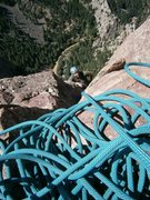 Rock Climbing Photo: Eldo, toping out on Swanson's Arete
