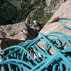 Eldo, toping out on Swanson's Arete