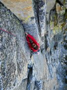 Rock Climbing Photo: Excellent climbing in the steep corners of pitch 2...