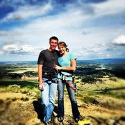 Rock Climbing Photo: me and the girlfriend this summer on top of devils...