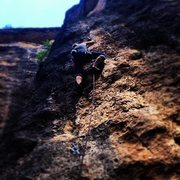 Rock Climbing Photo: my girlfriend