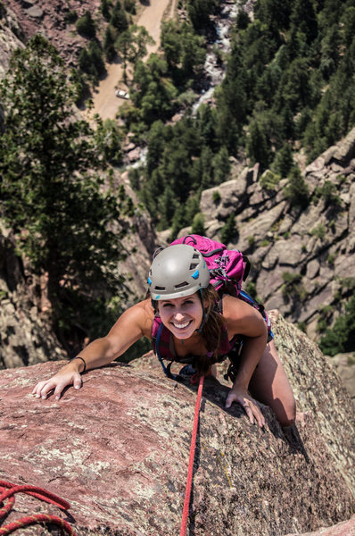 Rock Climbing Photo: Jenna Marie climbing with Joey from Colorado Mount...