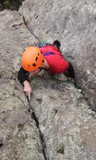 Rock Climbing Photo: Placing a nut