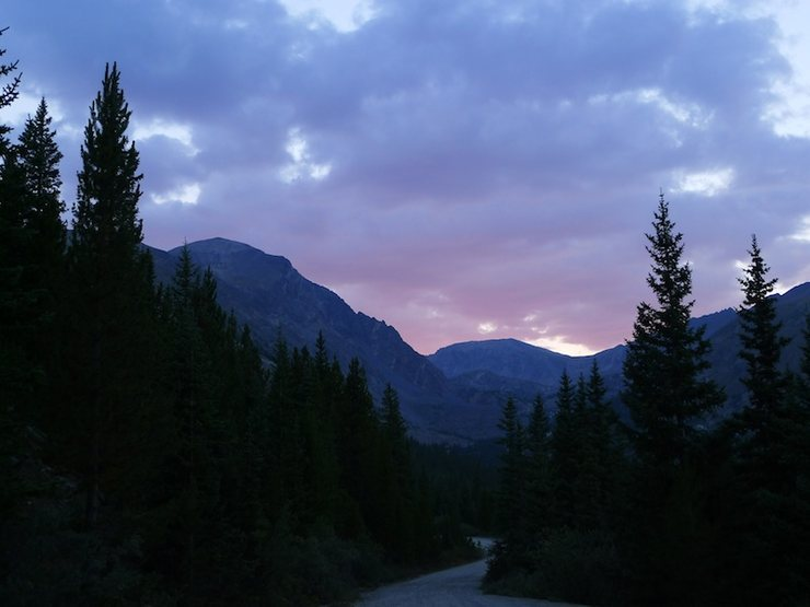 Rock Climbing Photo: Arete in the fading light on the walk back to the ...
