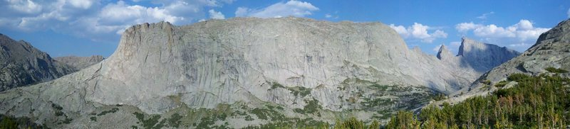 Rock Climbing Photo: Panorama of Haystack Mtn with the Steeple and Lost...