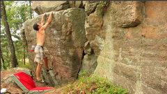 Rock Climbing Photo: sticking the fun jump