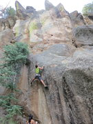 Rock Climbing Photo: John Crawley climbing Back to Nature, and linking ...