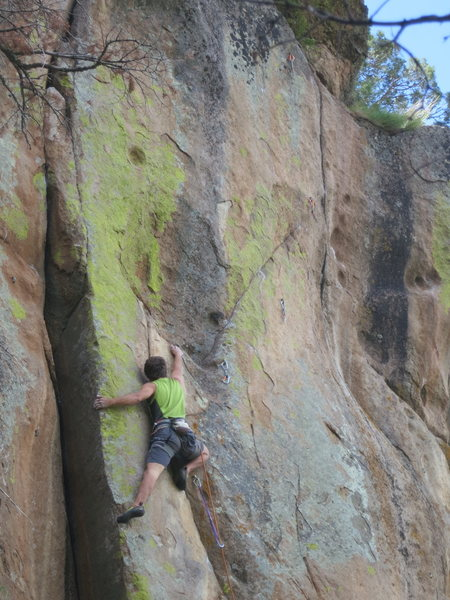 Rock Climbing Photo: Free Radical involves this little arete move on th...