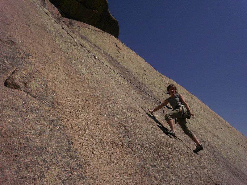 Rock Climbing Photo: Enjoying some fun, easy slab.