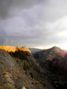 Rock Climbing Photo: The summit of Power Dome catches the final rays of...