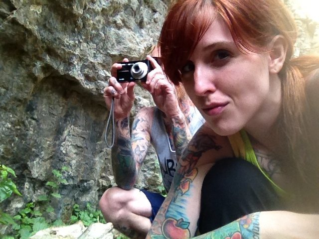 Rock Climbing Photo: girl.