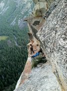 Rock Climbing Photo: Great place to spend the night, pitch 10 on the Le...