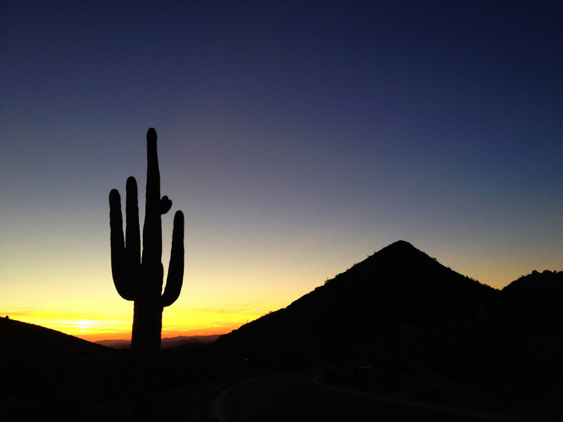 Rock Climbing Photo: Phoenix sunset.