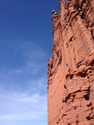 Rock Climbing Photo: Travis Lyon and Nic simul rap off of the Fisher To...