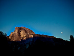 Rock Climbing Photo: Full moon over Half Dome.