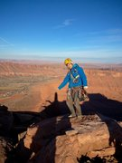 Rock Climbing Photo: Cold night atop Castleton Tower.